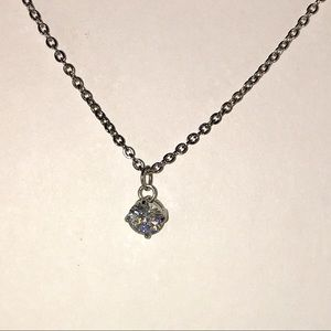 Charming Charlie Solitaire Rhinestone Necklace
